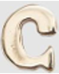 Loren Stewart - Single Alphabet Stud - Lyst