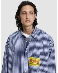 Martine Rose - Oversized Patch Cotton Shirt - Lyst