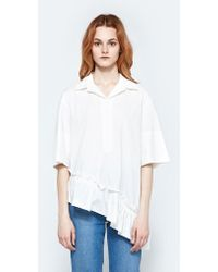 Marni - S/s Polo Neck Blouse - Lyst
