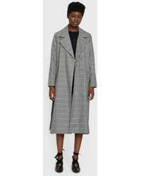 Just Female - Holmes Coat In Check - Lyst