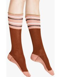 Marni - Sock In Raisin Cotton And Nylon - Lyst