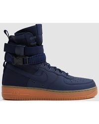 Nike - Sf Air Force 1 In Mid Navy/sail - Lyst