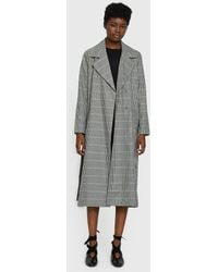Just Female | Holmes Coat In Check | Lyst