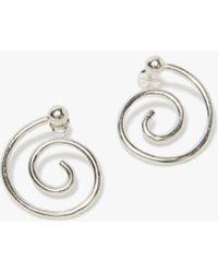 Young Frankk - Spiral Earrings In Sterling Silver - Lyst