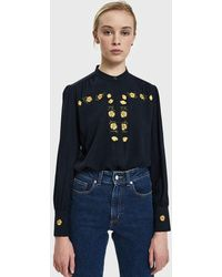 Bruta - Cowslip Embroidered Twill Shirt - Lyst