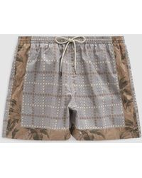 Dries Van Noten - Mixed Print Swim Short In Beige Multi - Lyst