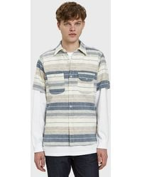 Rogue Territory - Work S/s Shirt In Fun Stripe - Lyst