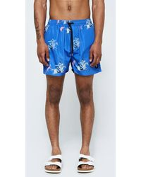 Insted We Smile - Warrior Swim Short In Electric Blue - Lyst