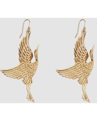 Trademark - Gold Crane Earrings - Lyst