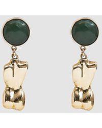 Faris - Bod Bronze Drop Earrings - Lyst