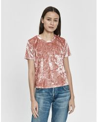 Farrow - Ceilidh Short Sleeve Velvet Tee - Lyst
