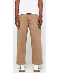 Obey | Loiter Big Fits Pant In Khaki | Lyst