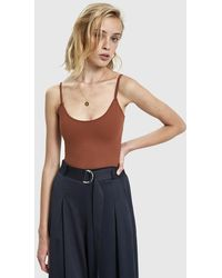 Which We Want - Angeline Sleeveless Bodysuit - Lyst