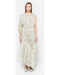 Marni - One Shoulder Dress In Citrus - Lyst