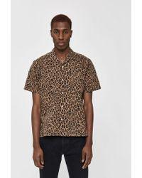 Gitman Brothers Vintage Gv X Need Supply Co. Leopard/camo Mash Up Ss Camp Collar Shirt