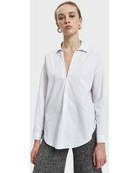 Stelen - Jade Pinstripe Shirt - Lyst