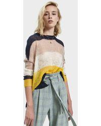 Stelen - Crei Colorblock Open-knit Sweater - Lyst
