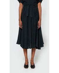 Black Crane - Wrap Skirt In Black - Lyst