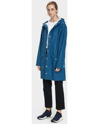 Rains - Long Rain Jacket In Faded Blue - Lyst