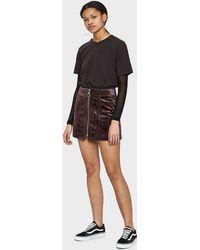 Stelen - Bonnie Skirt In Eggplant - Lyst