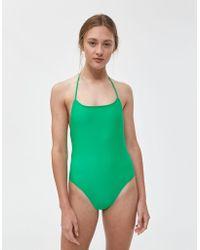 NU SWIM - Halter One-piece Swimsuit - Lyst