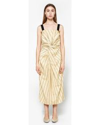 Caron Callahan - Donna Dress In Pinstripe - Lyst