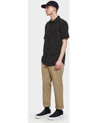 Obey - Brighton Woven Ss Shirt In Black Multi - Lyst