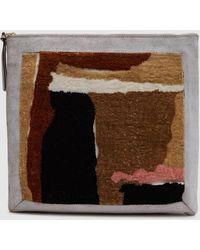 Rachel Comey - Embroidered Clutch In Beige - Lyst