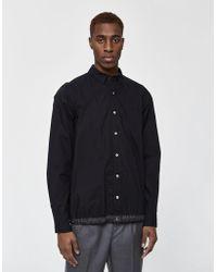 Sacai - Cotton Button Down Overshirt - Lyst