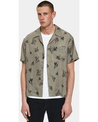 John Elliott - Bowling Shirt In Joshua Tree - Lyst