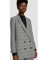 Just Female - Holmes Blazer In Check - Lyst