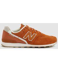 New Balance - 696 Trainer In Orange - Lyst