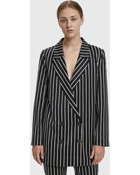 Just Female - Laurent Striped Blazer - Lyst