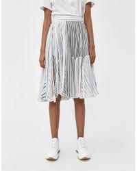 JW Anderson - Pajama Stripe Skater Skirt - Lyst