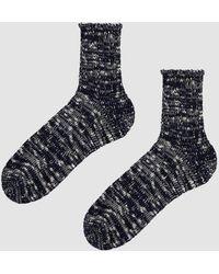 Anonymous Ism - Slub Quarter Sock In Black - Lyst