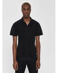 Homme Plissé Issey Miyake - S/s Basics Collared Shirt - Lyst