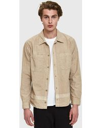 John Elliott - Unsewn Shirt In Tan - Lyst
