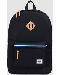 Herschel Supply Co. - Heritage Offset Backpack In Black/blue - Lyst