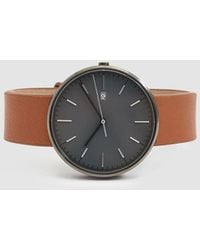 Uniform Wares - M40 Pvd-coated Stainless Steel And Leather Watch - Lyst
