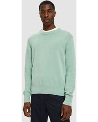 Cmmn Swdn - Colby Crewneck Sweater In Mint Green - Lyst