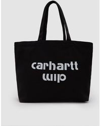 Carhartt WIP - Large Bronc Tote In Black / White - Lyst