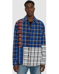 Off-White c/o Virgil Abloh - Check Reconstructed Button Up Shirt - Lyst