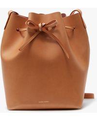 Mansur Gavriel - Bucket Bag Cammello/rosa - Lyst