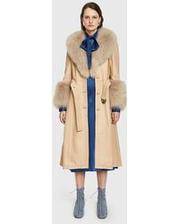 Saks Potts - Foxy Beige Coat - Lyst
