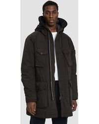 Stone Island - David Tc Down Hooded Coat - Lyst