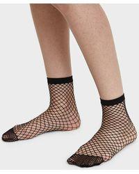 The Great Eros - Fishnet Sock In Black - Lyst