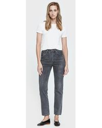 Goldsign - Benefit Straight Leg Jean In Forge - Lyst