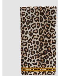 Just Female - Silk Leopard Scarf - Lyst