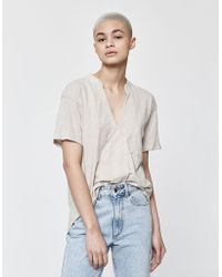 144236fcfbd Lyst - Cooperative Florence Short-sleeve Button-down Blouse in Blue