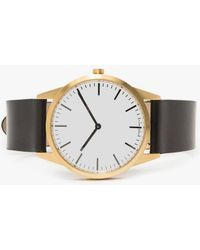Uniform Wares - C35 Pvd Gold Shell Cordovan Strap Watch - Lyst